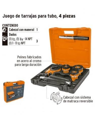 JUEGO DE TARRAJAS PARA TUBO